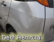 car dents removal before - photographic example of car before repair