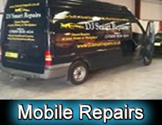 Mobile Car Body Work Repairs Manchester - Image of our repair van